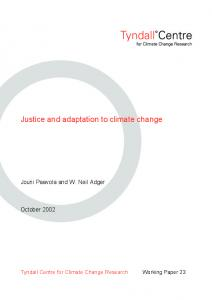 Justice and adaptation to climate change - CiteSeerX