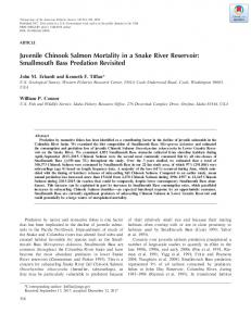 Juvenile Chinook Salmon Mortality in a Snake ... - Wiley Online Library