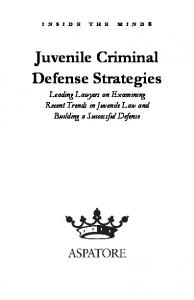 Juvenile Criminal Defense Strategies