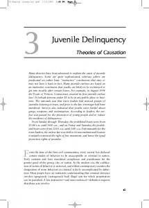 Juvenile Delinquency Theories Of Causation - Sage Publications
