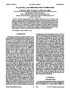 K 1,2 and K 1,3 x-ray emission lines of the 3d ... - APS Link Manager
