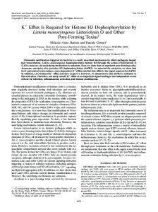 K+ Efflux Is Required for Histone H3 Dephosphorylation by Listeria ...