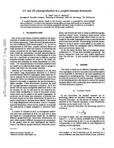 K-Lambda and K-Sigma photoproduction in a coupled channels ...
