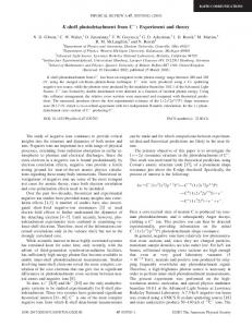 K-shell photodetachment from C : Experiment and ... - APS Link Manager