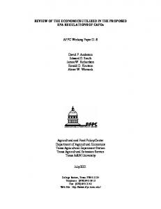 K:\AFPC Working Papers\Working Papers\wp-2001 ... - AgEcon Search