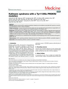 Kallmann syndrome with a Tyr113His PROKR2 mutation