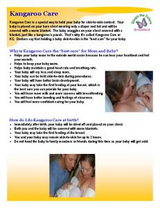Kangaroo Care Handout - Kentucky: Cabinet for Health and Family ...