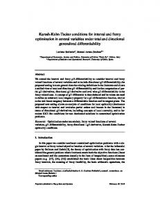 Karush-Kuhn-Tucker conditions for interval and fuzzy