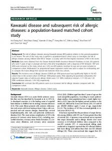 Kawasaki disease and subsequent risk of allergic
