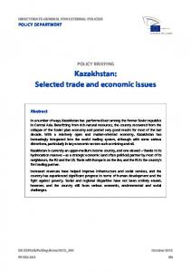 Kazakhstan: Selected trade and economic issues - European ...