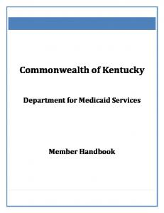 Kentucky Medicaid Member Handbook