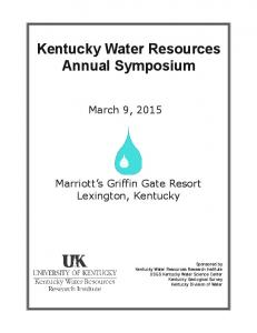 Kentucky Water Resources Annual Symposium - University of Kentucky