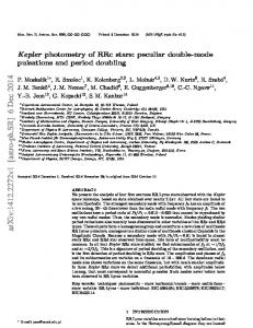 Kepler photometry of RRc stars: peculiar double-mode pulsations and ...
