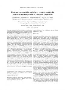 Keratinocyte growth factor induces vascular endothelial growth factor ...