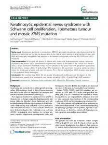 Keratinocytic epidermal nevus syndrome with ... - Springer Link