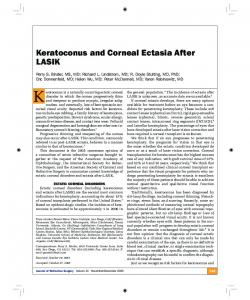 Keratoconus and Corneal Ectasia After LASIK - CiteSeerX