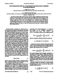 Kernel polynomial method for a nonorthogonal ... - APS Link Manager