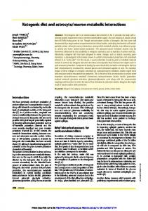 Ketogenic diet and astrocyte/neuron metabolic interactions