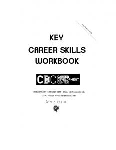 KEY CAREER SKILLS WORKBOOK