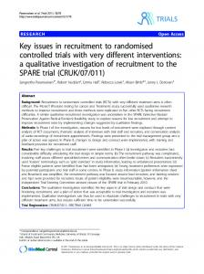 Key issues in recruitment to randomised controlled trials ... - ICTS | UCI