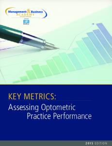 KEY METRICS: Assessing Optometric Practice Performance