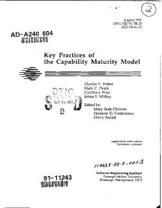 Key Practices of the Capability Maturity Model