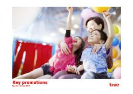 Key promotions - True Corporation Public Company Limited
