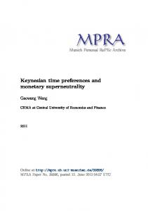 Keynesian time preferences and monetary superneutrality