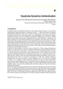 Keystroke Dynamics Authentication - Semantic Scholar