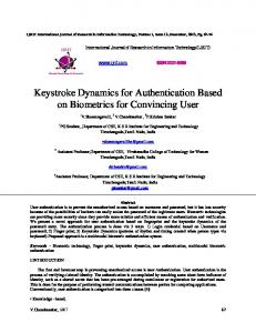 Keystroke Dynamics for Authentication Based on ...
