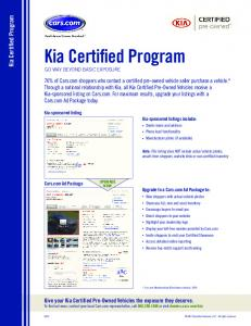 Kia Certified Program - Cars.com
