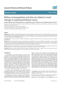 Kidney aminopeptidase activities are related to renal ... - OAText