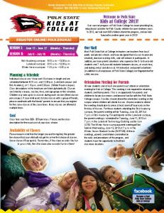 Kids at College 2013 brochure