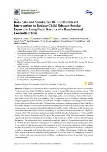 Kids Safe and Smokefree (KiSS) Multilevel Intervention to Reduce ...