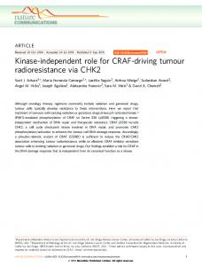 Kinase-independent role for CRAF-driving tumour ... - Semantic Scholar