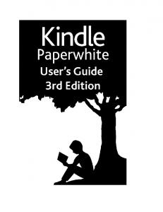 Kindle Paperwhite User Guide