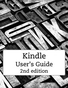 Kindle User's Guide 2nd edition
