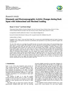Kinematic and Electromyographic Activity Changes during Back Squat ...