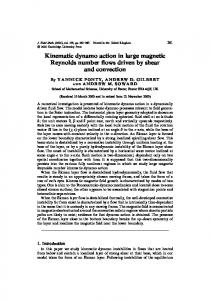 Kinematic dynamo action in large magnetic Reynolds number ... - OCA