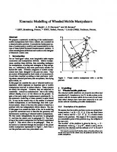 Kinematic Modelling of Wheeled Mobile