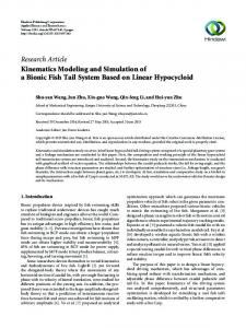 Kinematics Modeling and Simulation of a Bionic Fish Tail System ...