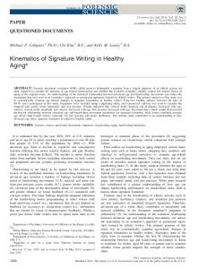 Kinematics of Signature Writing in Healthy Aging - Wiley Online Library