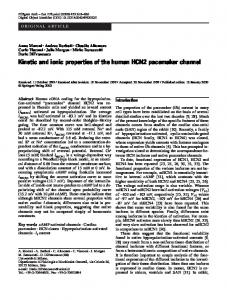 Kinetic and ionic properties of the human HCN2 pacemaker channel