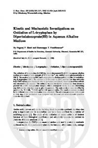 Kinetic and Mechanistic Investigations on Oxidation of ...