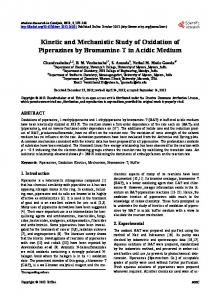 Kinetic and Mechanistic Study of Oxidation of Piperazines by