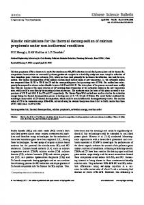 Kinetic calculations for the thermal decomposition of ... - Springer Link
