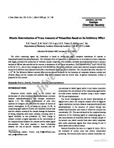 kinetic determination of trace amounts of thiosulfate