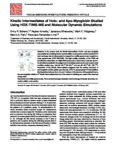 Kinetic Intermediates of Holo- and Apo-Myoglobin ... - Springer Link