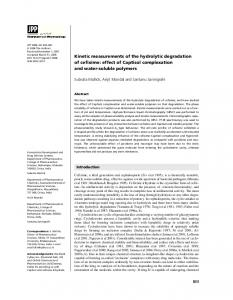 Kinetic measurements of the hydrolytic degradation of cefixime: effect ...