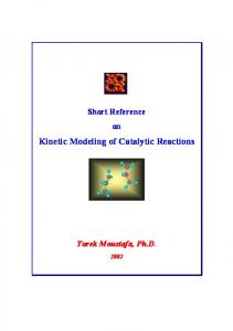 Kinetic Modeling of Catalytic Reactions